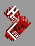 Hjärta med bokstäver Arkivbild