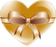 Hjärta med bowen Royaltyfri Fotografi