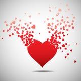 Hjärta med bristningseffekt, stock illustrationer