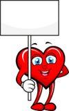 Hjärta med det tomma tecknet Arkivbild