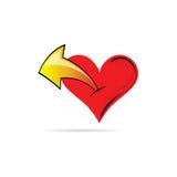 Hjärta med en pilvektor Royaltyfri Foto
