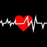 Hjärta med livlinjen i Minimalistic stil vektor illustrationer