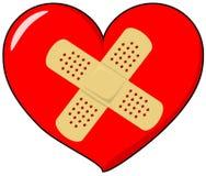 Hjärta med musikbandhjälpmedlet Royaltyfri Fotografi