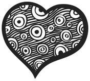 Hjärta med rundan och remsor Royaltyfria Bilder