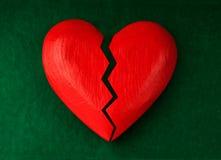 Hjärta med sprickan Royaltyfria Foton