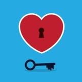 Hjärta med tangent royaltyfri illustrationer