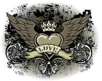 Hjärta med vingar Royaltyfri Bild