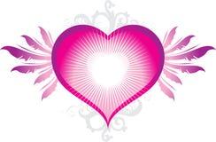 Hjärta med vingar Arkivfoto