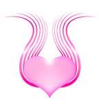 Hjärta med vingar Arkivbild