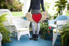 Hjärta med vingar Royaltyfria Bilder