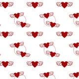 Hjärta med vingmodellen i stil av leken för 8 bit Arkivfoto