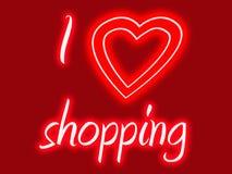 hjärta mig shopping Royaltyfria Foton
