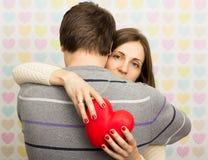 hjärta min portfölj till valentinvälkomnandet Royaltyfri Fotografi