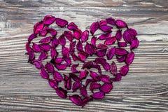 hjärta min portfölj till valentinvälkomnandet Arkivbilder