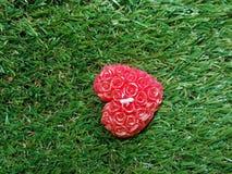 hjärta min portfölj till valentinvälkomnandet royaltyfria bilder
