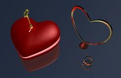 Hjärta nyckel- B1a Royaltyfri Bild