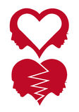Hjärta- och förälskelseframsidor, vektor Royaltyfri Foto