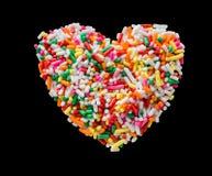 Hjärta och godis Arkivbilder