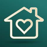 Hjärta och hem- symbol Royaltyfria Foton