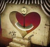 Hjärta och klockpendel Arkivbilder