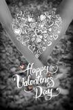 Hjärta och penna Royaltyfria Foton