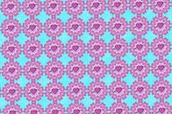 Hjärta och pil Valentine Pattern Royaltyfria Bilder