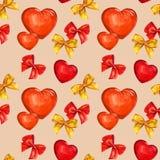 Hjärta och pilbåge, vattenfärg Royaltyfria Foton