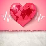 Hjärta och puls vektor illustrationer