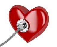 Hjärta och stetoskop Royaltyfri Illustrationer