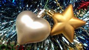 Hjärta- och stjärnajulgarnering Royaltyfria Foton