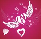 Hjärta och vingar Arkivbild