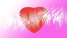 Hjärta på bakgrund Arkivbilder