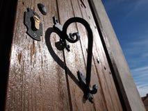 Hjärta på dörren Royaltyfria Bilder