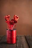 Hjärta på en pinne för valentin dag Royaltyfri Bild