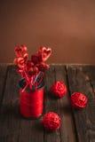 Hjärta på en pinne för valentin dag Royaltyfria Foton