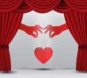 Hjärta på etapp Royaltyfri Fotografi