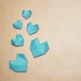 Hjärta på packepapper Arkivbild