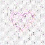 Hjärta på Seamles prickmodell Royaltyfri Foto