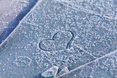 Hjärta på snow Royaltyfri Fotografi