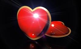 Hjärta på svarten Royaltyfria Bilder