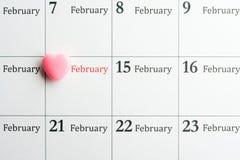 Hjärta på 14th Februari Royaltyfri Bild