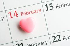 Hjärta på 14th Februari Fotografering för Bildbyråer