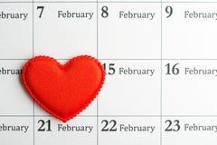 Hjärta på 14th Februari Arkivbilder
