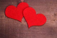 Hjärta på trä Arkivbild