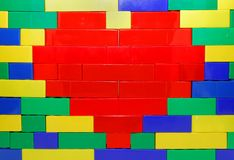 Hjärta på väggen Fotografering för Bildbyråer