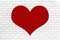 Hjärta på väggen Arkivbilder
