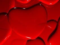 Hjärta på valentin dag Arkivbilder