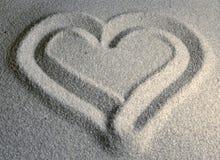 hjärta sandig ii Royaltyfri Fotografi
