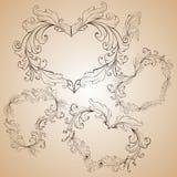 hjärta shapes tappning Fotografering för Bildbyråer