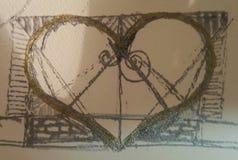 Hjärta skissar Arkivfoton
